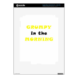 Grumpy In the Morning Skins For iPad 3