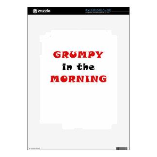Grumpy in the Morning Skin For iPad 2
