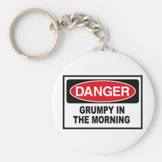 grumpy into the morning keychain