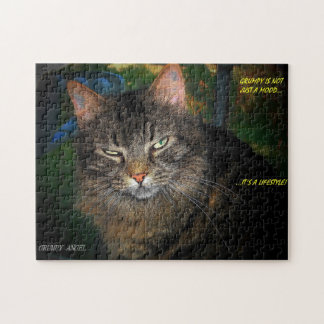 Grumpy is a lifestyle jigsaw puzzle
