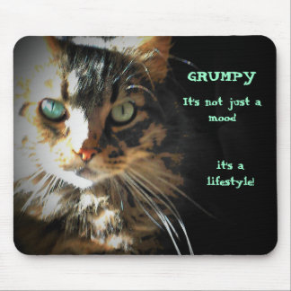 Grumpy is a lifestyle mouse pad