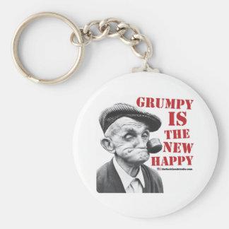 Grumpy is the new happy keychain