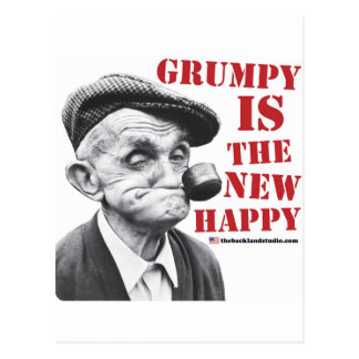 Grumpy is the new happy postcard