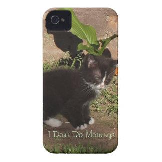 Grumpy Kitten- I Don't Do Mornings iPhone 4 Case