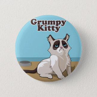 Grumpy Kitty cat Pinback Button