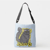 Grumpy Kitty Crossbody Bag