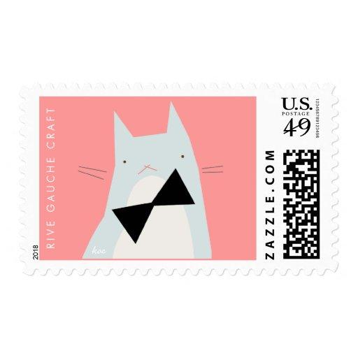 Grumpy Kitty in a Black Bowtie Postage