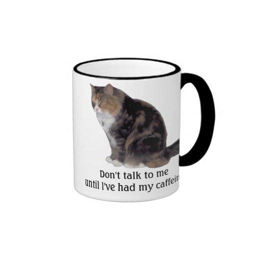 Grumpy Kitty Ringer Coffee Mug