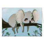 Grumpy Koala bear Card