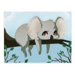 Grumpy Koala bear Postcard
