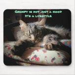 Grumpy  lifestyle Cat mouse pad