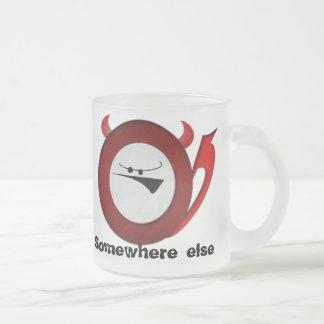 Grumpy Little devil Frosted Glass Coffee Mug