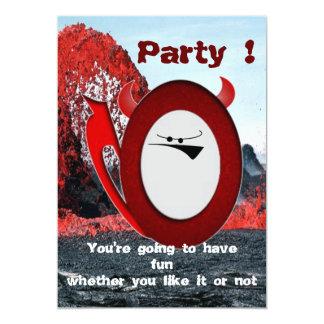 Grumpy little devil party invite