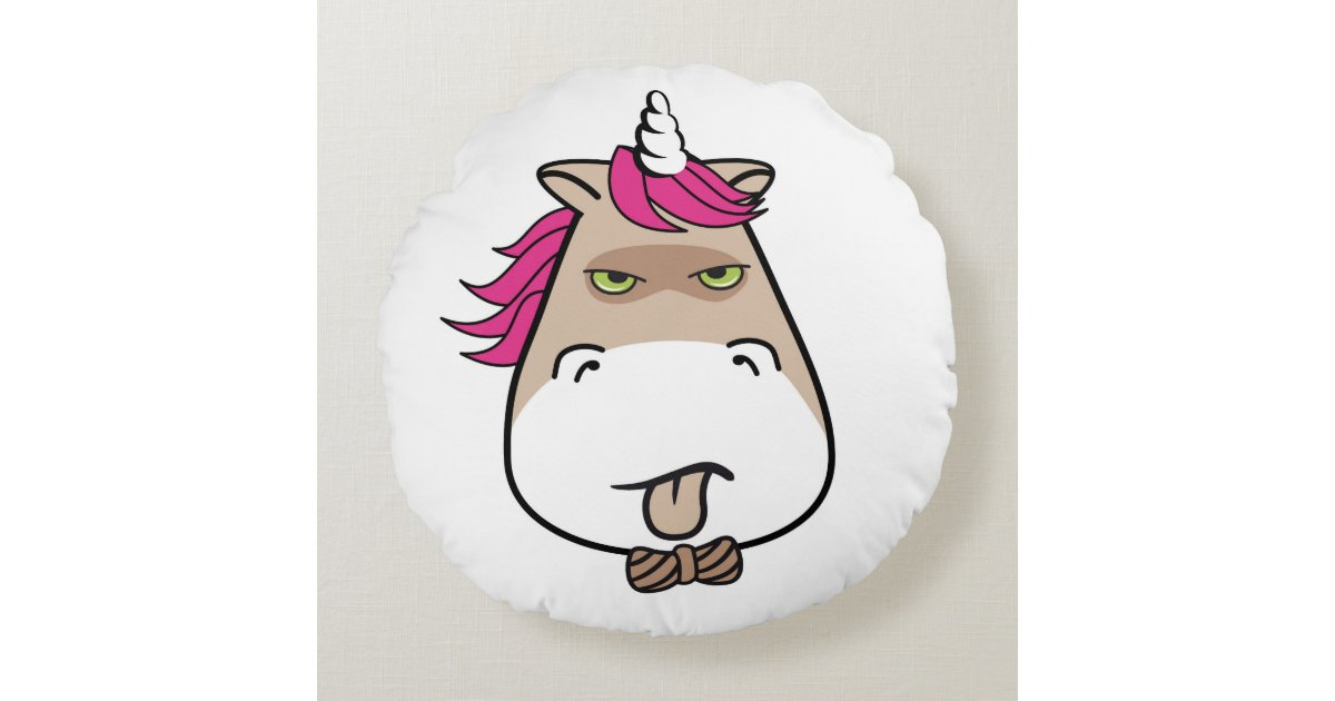 Grumpy Little Unicorn Funny Kids Throw Pillow Zazzle Com