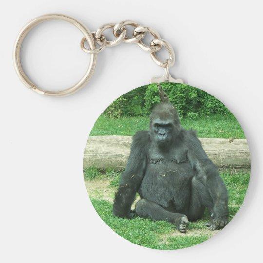 Grumpy Lowland Gorilla Keychain