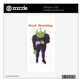 Grumpy Martian Skin For iPhone 4S