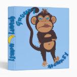 Grumpy Monkey 3 Ring Binders