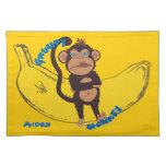 Grumpy Monkey Cloth Placemat