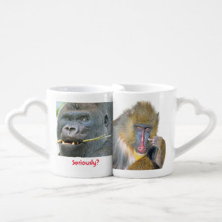 Grumpy Monkey         Lovers' Mug Set Couples' Coffee Mug Set