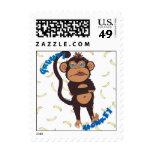 Grumpy Monkey Postage Stamp