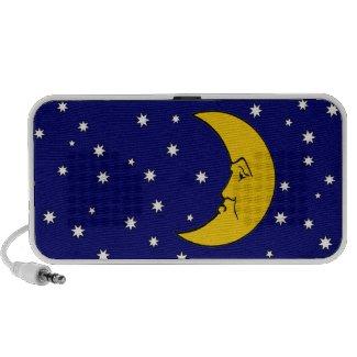 Grumpy Mrs. Moon Doodle Portable Music Speaker