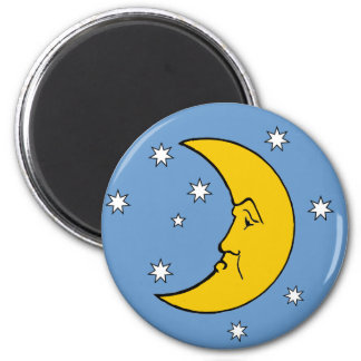 Grumpy Mrs. Moon Fridge Magnet