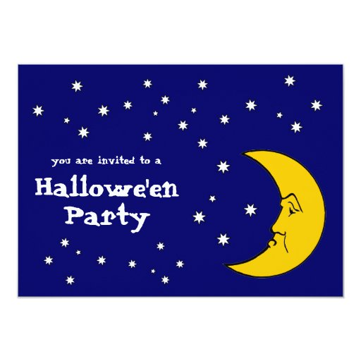 Grumpy Mrs. Moon Halloween Party Invitation