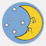 Grumpy Mrs. Moon Sticker