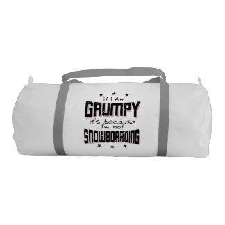 GRUMPY not SNOWBOARDING (blk) Gym Bag