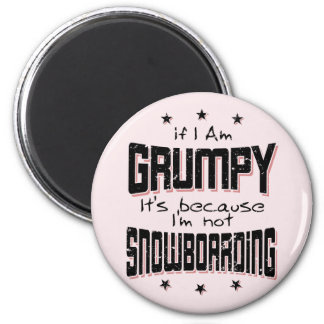 GRUMPY not SNOWBOARDING (blk) Magnet