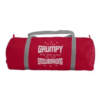 GRUMPY not SNOWBOARDING (wht) Duffle Bag
