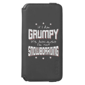 GRUMPY not SNOWBOARDING (wht) iPhone 6/6s Wallet Case
