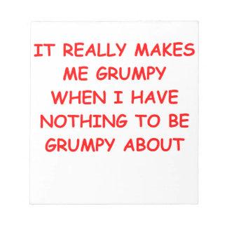 grumpy memo pad