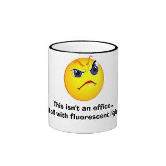 grumpy  Office face Ringer Mug