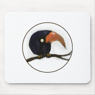Grumpy Old Crow Roosting Mouse Pad