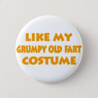 Grumpy old fart Costume Button