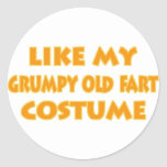 Grumpy old fart Costume Stickers