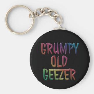 Grumpy Old Geezer Key Ring Chain Basic Round Button Keychain