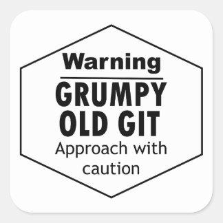 Grumpy Old Git Funny Square Sticker