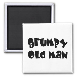 Grumpy old man 2 inch square magnet