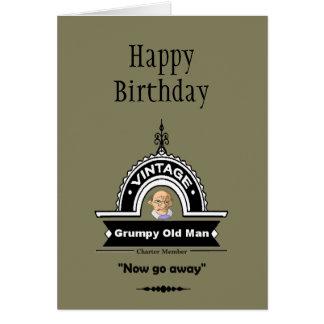 "Grumpy Old Man Club Fun ""Over the Hill"" Birthday Card"