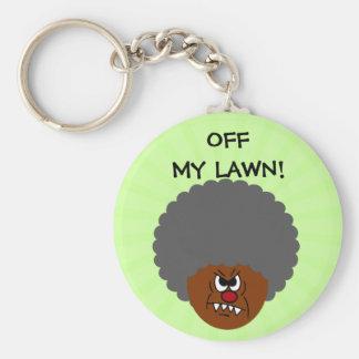 Grumpy Old Man: Hey, you kids get off my lawn! Keychain