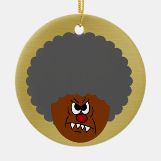 Grumpy Old Man: Hey, you kids get off my lawn! Christmas Ornament