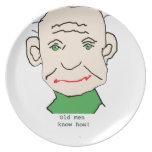Grumpy Old Man Plate