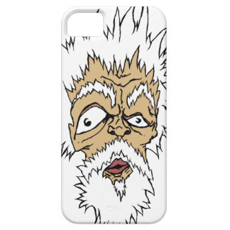Grumpy Old Man with white Hair iPhone SE/5/5s Case