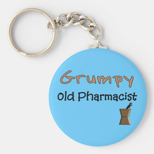 Grumpy Old Pharmacist T-Shirts and Gifts Key Chains