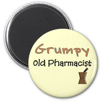 Grumpy Old Pharmacist T-Shirts and Gifts 2 Inch Round Magnet