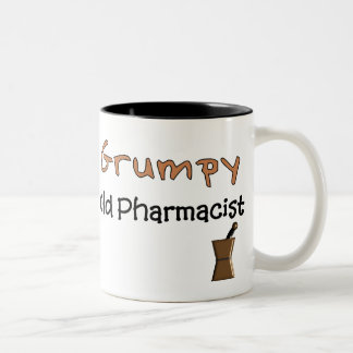 Grumpy Old Pharmacist T-Shirts and Gifts Two-Tone Coffee Mug