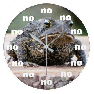 Grumpy Old Toad on a Stump Large Clock