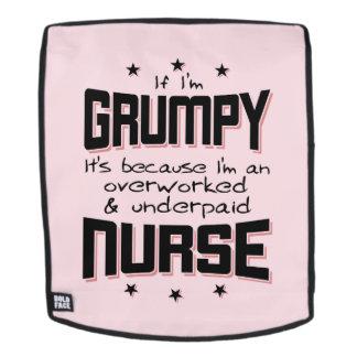GRUMPY overworked underpaid NURSE (blk) Backpack